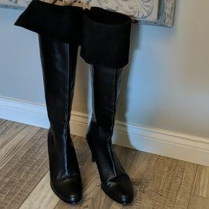 Ralph Lauren knee high or over the knee boots